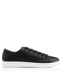 Women's Baylee black leather sneakers