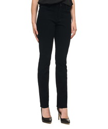 Samantha black cotton slim leg jeans