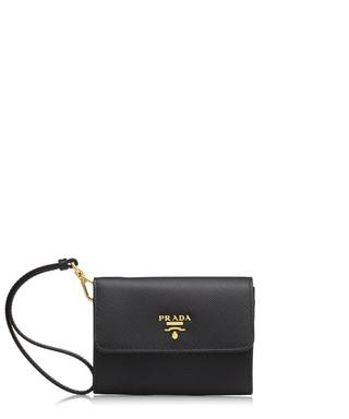 Black saffiano leather wristlet Sale - Prada Sale 2d007af7e9c94