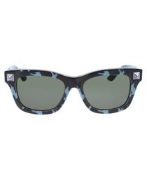 Black & green stud sunglasses