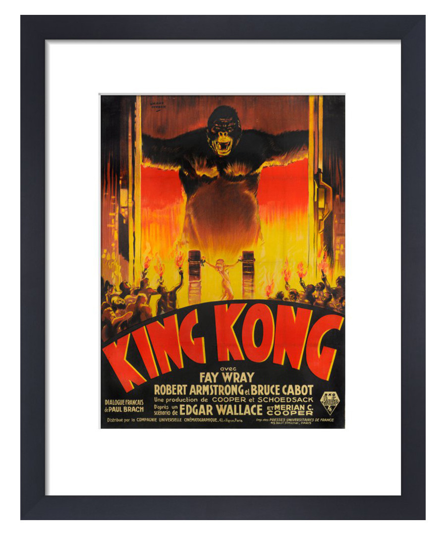 King Kong framed print 36cm Sale - film classics