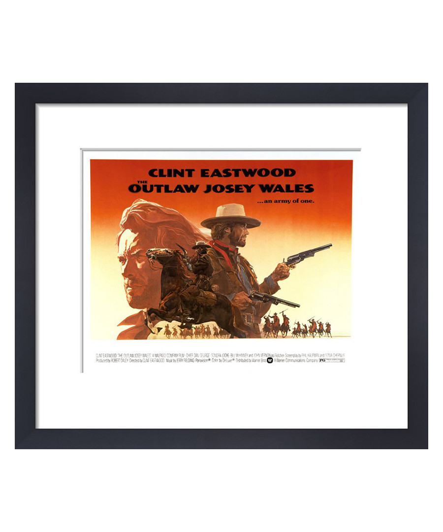 Discount The Outlaw Josey Wales framed print 36cm | SECRETSALES