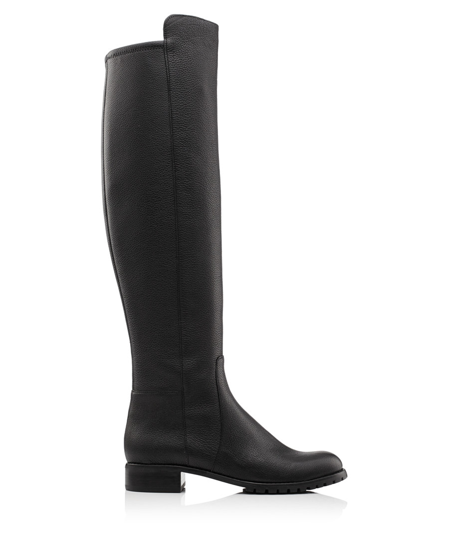 47b814aac6711 Black leather over-the-knee boots Sale - Michael Kors