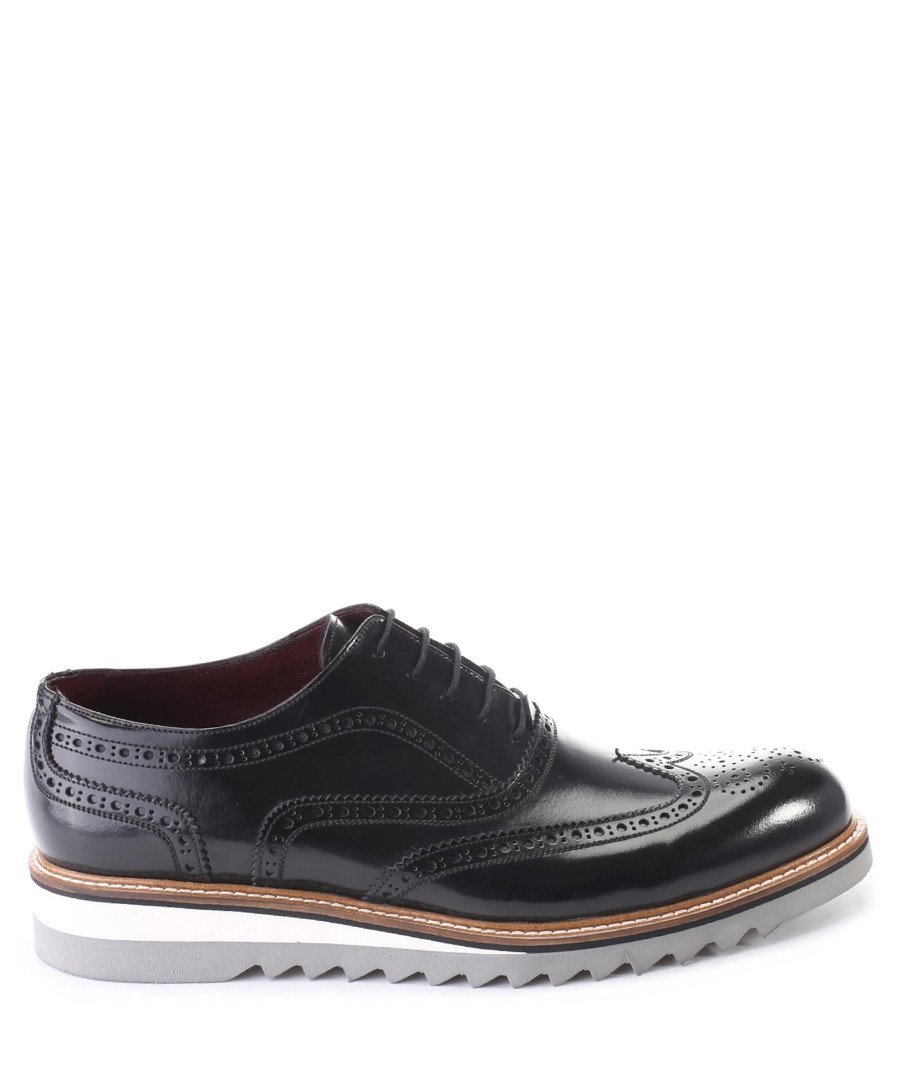 Black & white leather brogues  Sale - deckard