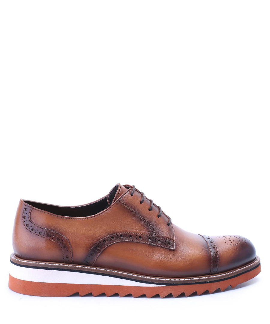 Brown & white leather brogues  Sale - deckard