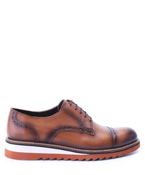 Brown & white leather brogues