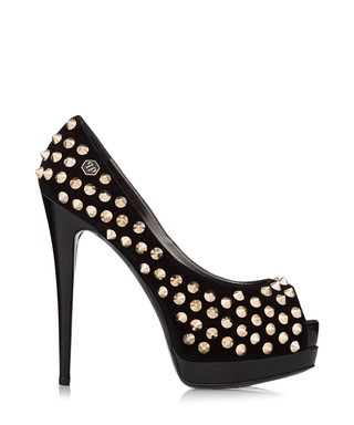 5dd666ceb78c Black leather stud peep toes Sale - PHILIPP PLEIN Sale