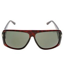 Harley dark Havana & green sunglasses