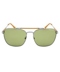 Edward gunmetal & green sunglasses