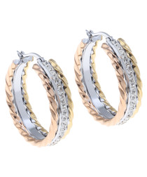 18k gold-plated & silver-plated hoops