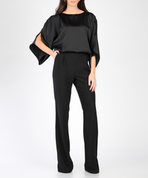 Black tulip sleeve jumpsuit
