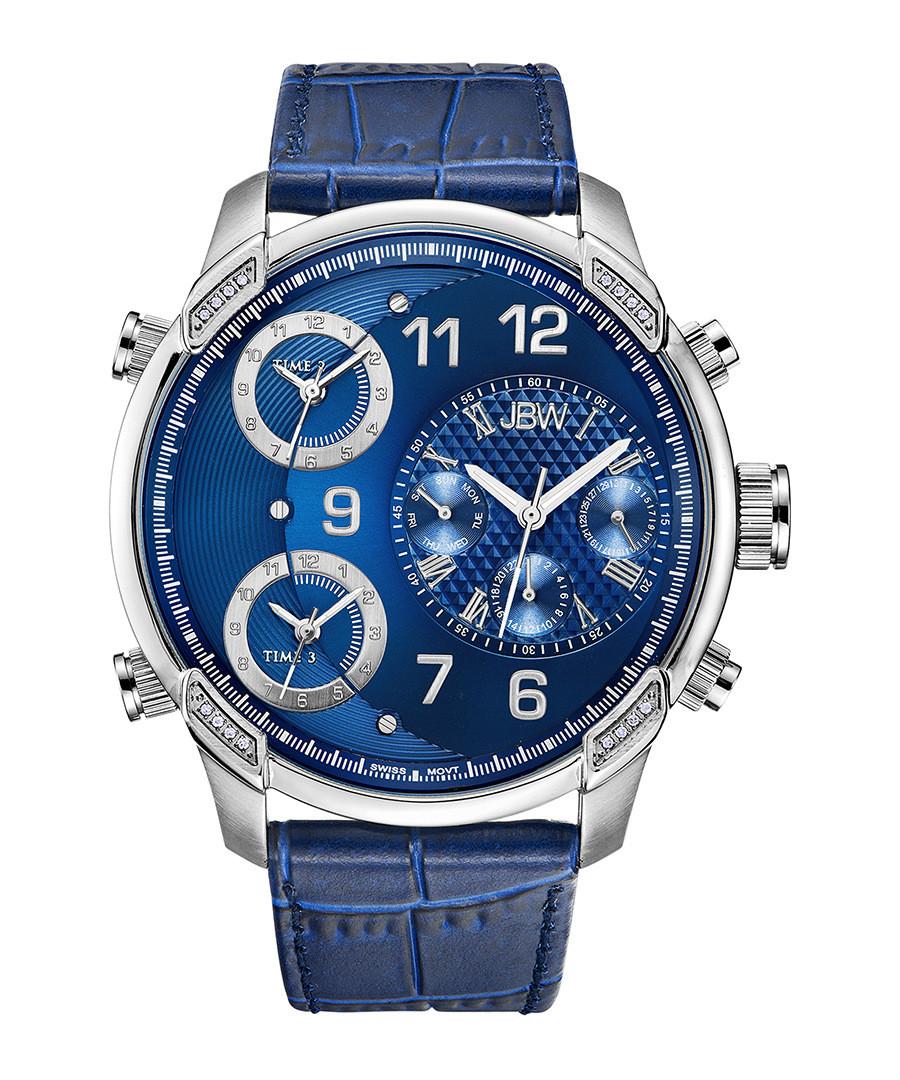 G4 blue leather strap watch Sale - jbw