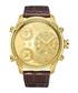 G4 gold-tone & brown leather strap watch Sale - jbw Sale