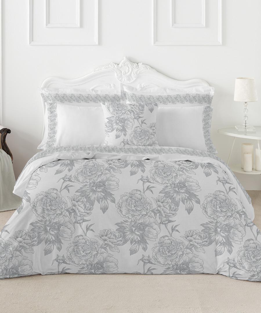 Guiomar superking grey cotton duvet set Sale - pure elegance
