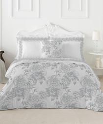 Guiomar grey cotton king duvet set