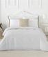 Izora white cotton s.king duvet set Sale - pure elegance Sale