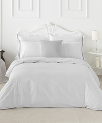 Maresa white cotton s.king duvet set