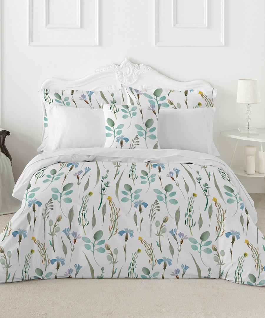 Peridot green cotton king duvet set Sale - pure elegance