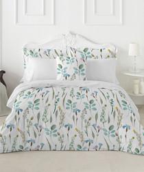 Peridot green cotton king duvet set