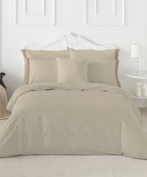 Carmelian taupe cotton double duvet set