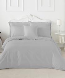 Marlow grey cotton single duvet set