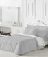 Liso double grey cotton duvet set Sale - pure elegance Sale