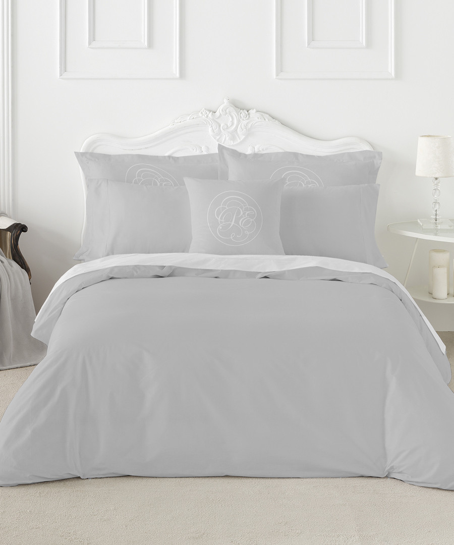 Liso double grey cotton duvet set Sale - pure elegance
