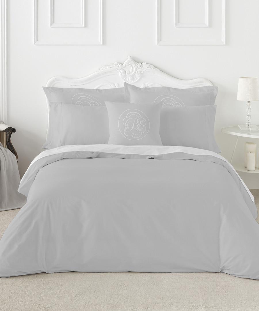 Liso single grey cotton duvet set Sale - pure elegance