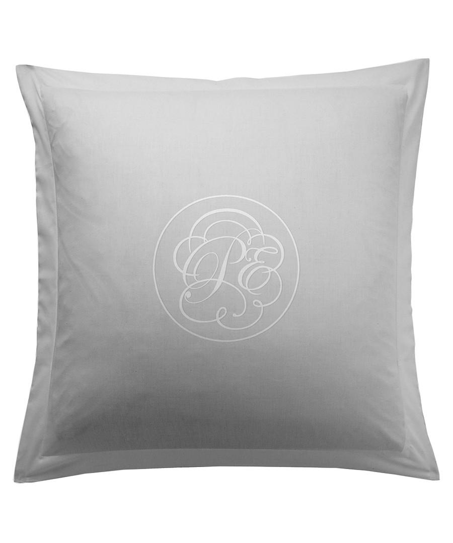 Liso grey cotton square pillowcase 50cm Sale - pure elegance