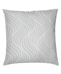 Zulema grey pure cotton pillowcase 65cm