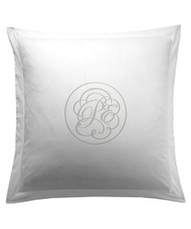 Liso white cotton square pillowcase 65cm