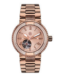 Rêveuse rose gold-tone crystal watch