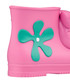 Girl's Monkey pink & aqua green boots Sale - Melissa + Jeremy Scott Sale