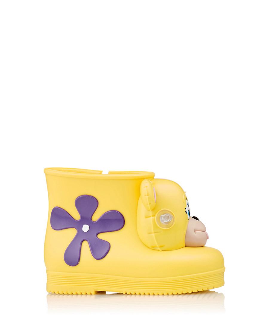 Girl's Monkey yellow & purple boots Sale - Melissa + Jeremy Scott