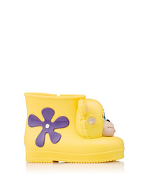 Girl's Monkey yellow & purple boots