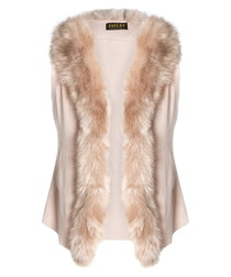Pink faux fur gilet