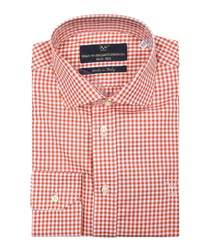 Red & white pure cotton check shirt