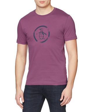 Amaranth cotton circle logo T-shirt Sale - Original Penguin Sale cc51a91df70