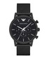 Black stainless steel mesh watch  Sale - emporio armani Sale