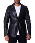 Black leather two-button blazer Sale - ad milano Sale