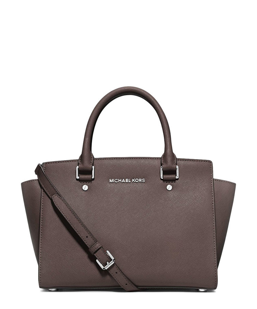 8b294f93cc8b ... norway selma grey leather medium grab bag sale michael kors 076e0 00ec4
