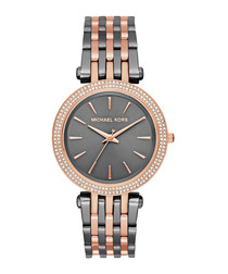 Darci grey & rose gold-tone steel watch