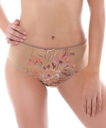 Serenity sand floral full briefs