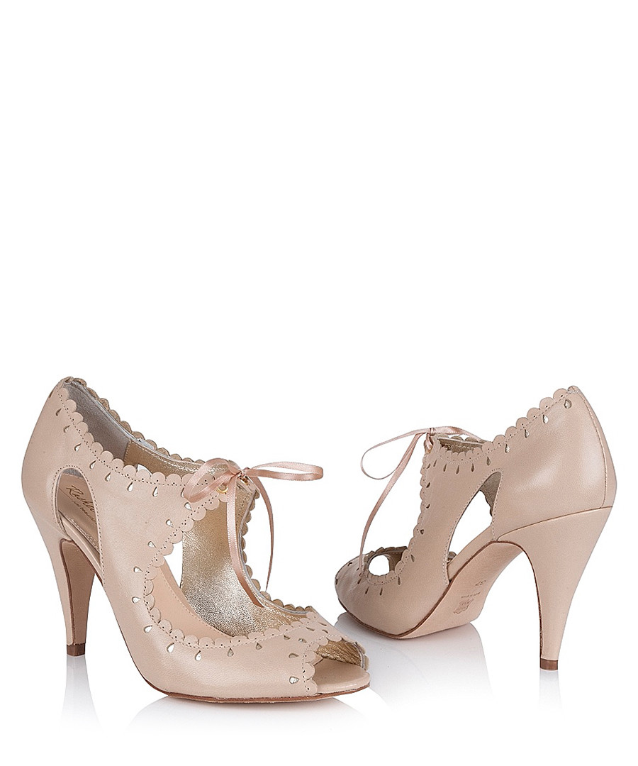 Amelie Nude discount amelie nude leather lace-up heels   secretsales