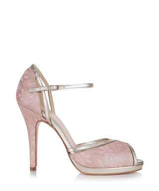 9c73e28b1e93 Ava pink leather lace peep-toe heels Sale - RACHEL SIMPSON Sale