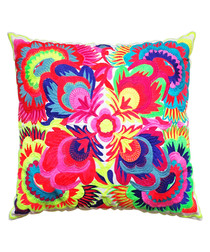 Oaxaca multi-coloured cushion