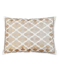 Phulkari gold metallic cushion