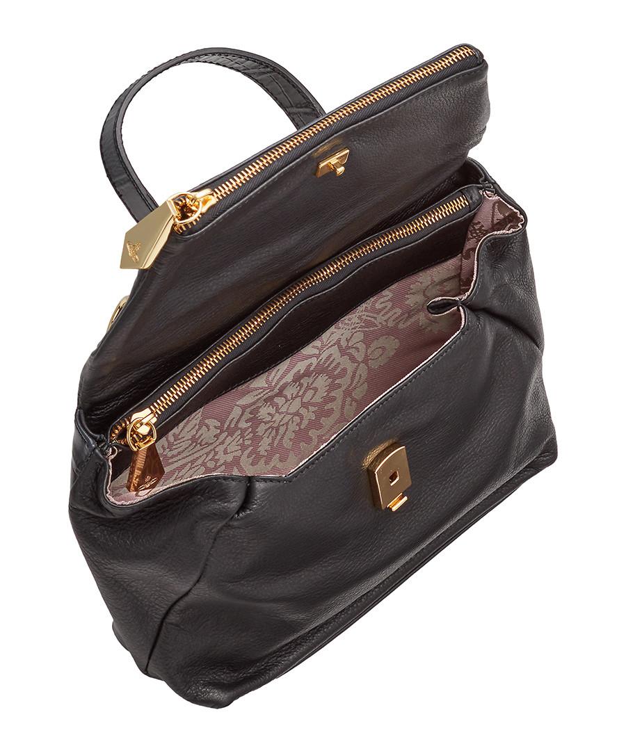 21e7da79a5 ... Beaufort black leather cross body bag Sale - vivienne westwood ...
