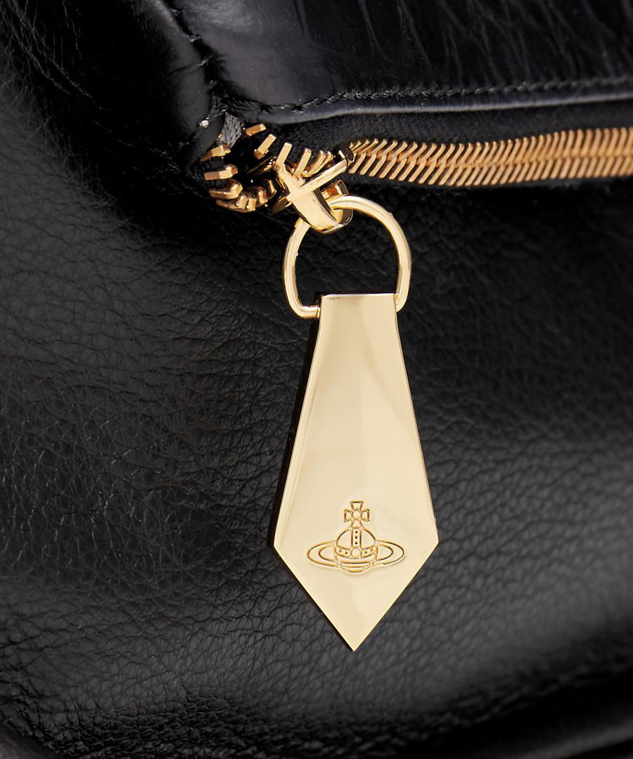 65cdcd21f3 ... Beaufort black leather cross body bag Sale - vivienne westwood