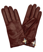 Nappa red leather gloves